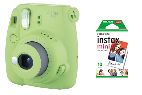 SET INSTAX MINI 9 Lime Green + film 10 snímků- ROZBALENO